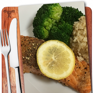 Salmon, Brown Rice, Broccoli, Prepped meals, Nashville, Music City Fit Meals - image